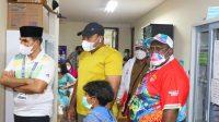 Ketua Muaythai Indonesia, Sudirman saat mengunjungi Wisma Atlit Papua