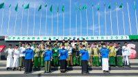 Foto Bersama Peringatan Hari Santri Nasional di Kota Makassar